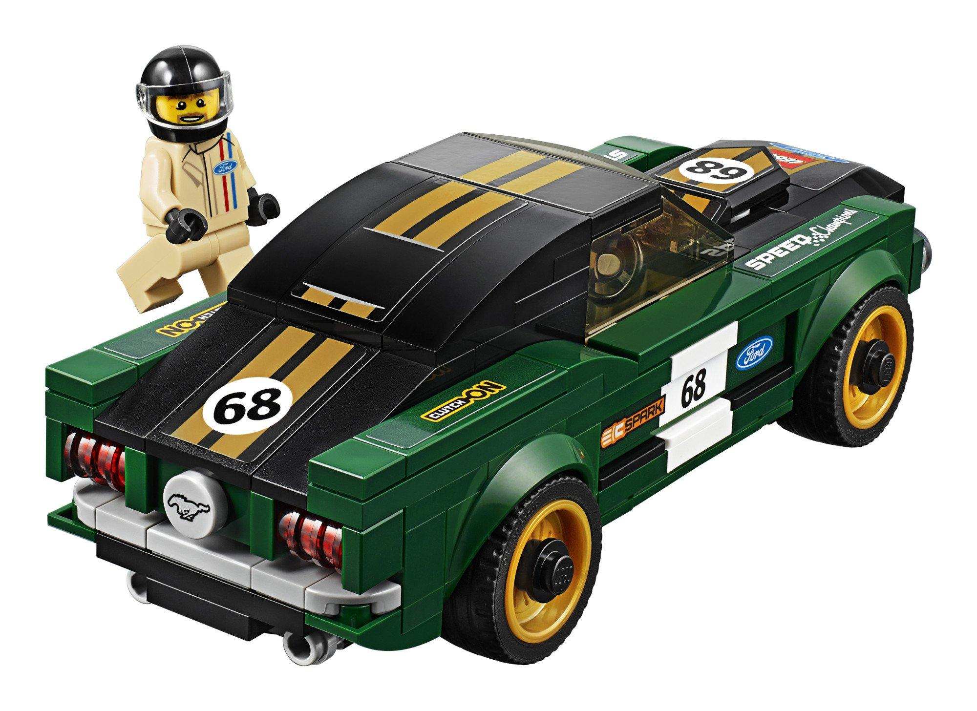 183 Piece LEGO Speed Champions 1968 Ford Mustang Fastback 75884 Building Kit