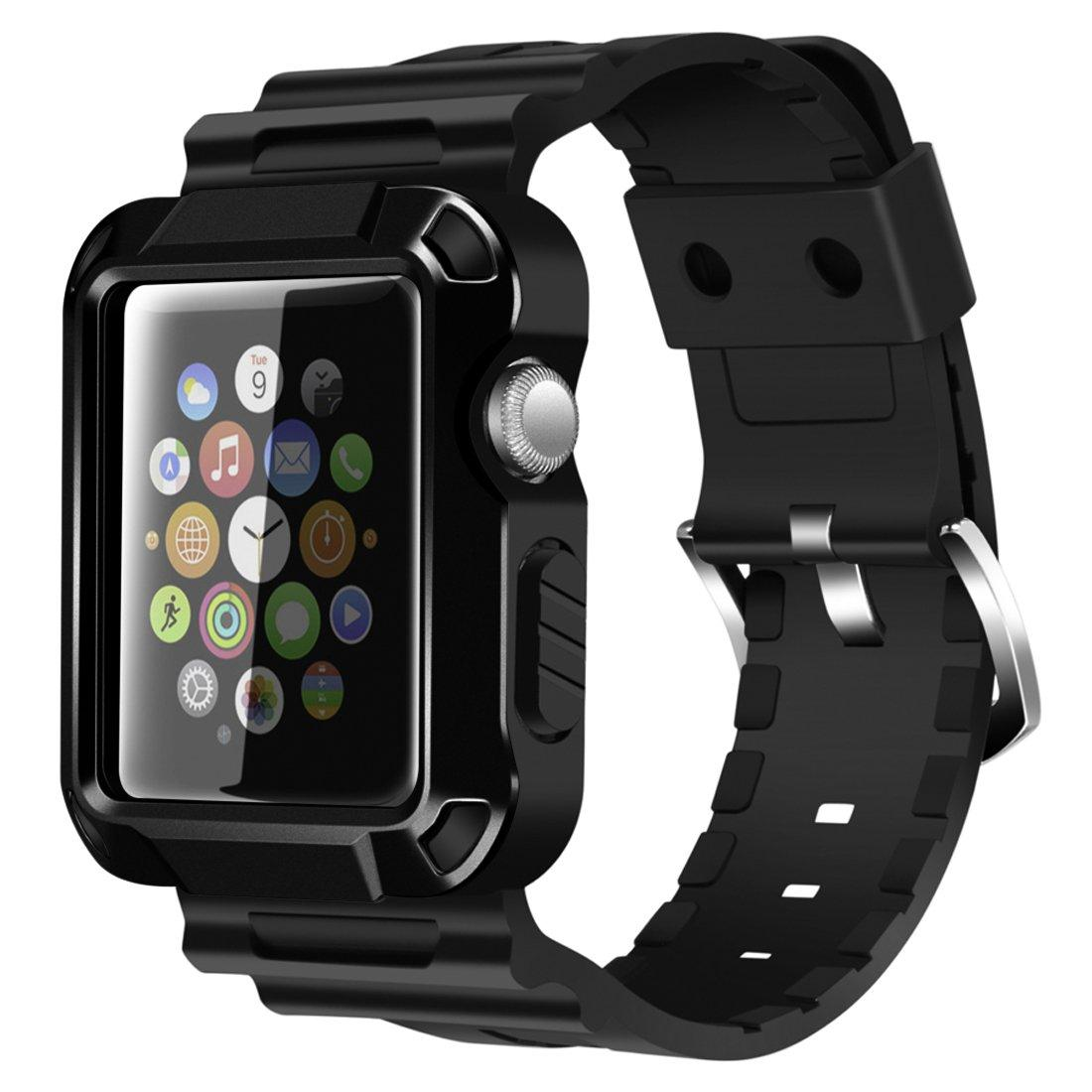 best service 9e5cf 403b9 Details about iiteeology Compatible Apple Watch Band 42mm, Rugged  Protective iWatch Case and