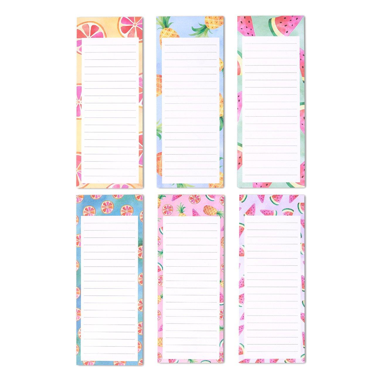 Details about Juvale to-do-List Notepad - 6-Pack Magnetic Notepads, Grocery  List Magnet Memo