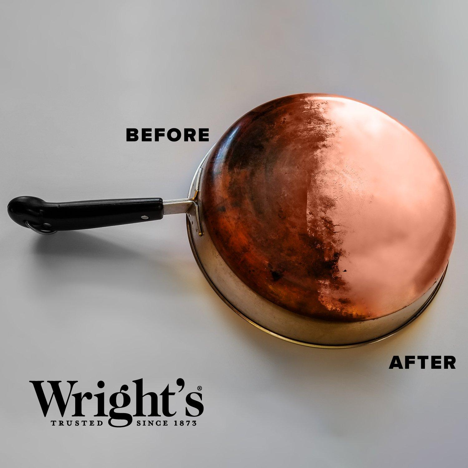 Wright-039-s-Copper-and-Brass-Cream-Cleaner-8-Ounce-Gently-Cleans-and-Removes thumbnail 3