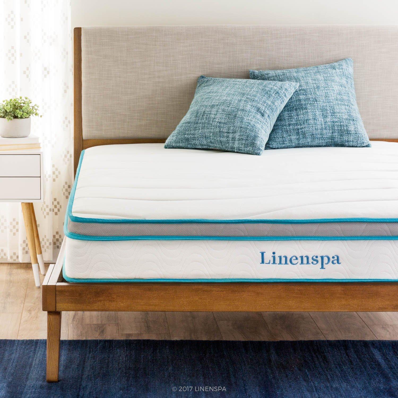 LINENSPA 8-inch Twin Memory Foam and Spring Mattress>