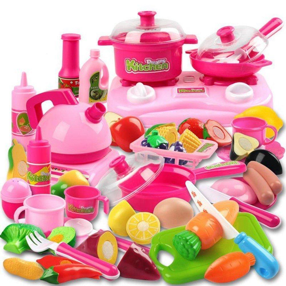 42 Piece Kitchen Cooking Set Girls Boys Fruit Vegetable Tea