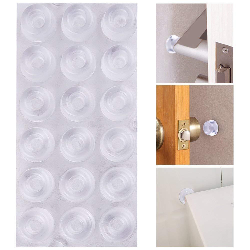 AUSTOR 18 Pack Clear Door Knob Bumpers Self-Adhesive Door St