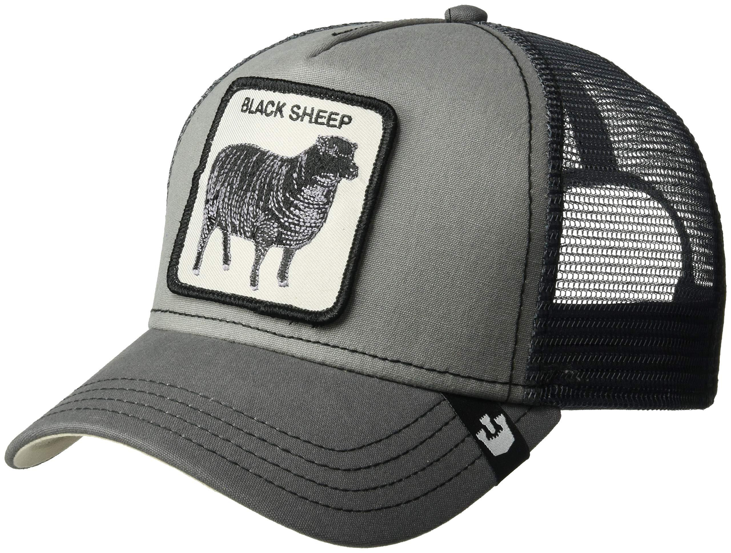 d2879122 Details about Goorin Bros. Men's Animal Farm Snap Back Trucker Hat, Gray  Sheep, One Size