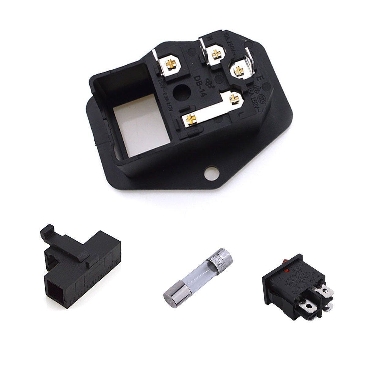 Urbest Inlet Module Plug 5a Fuse Switch Male Power Socket