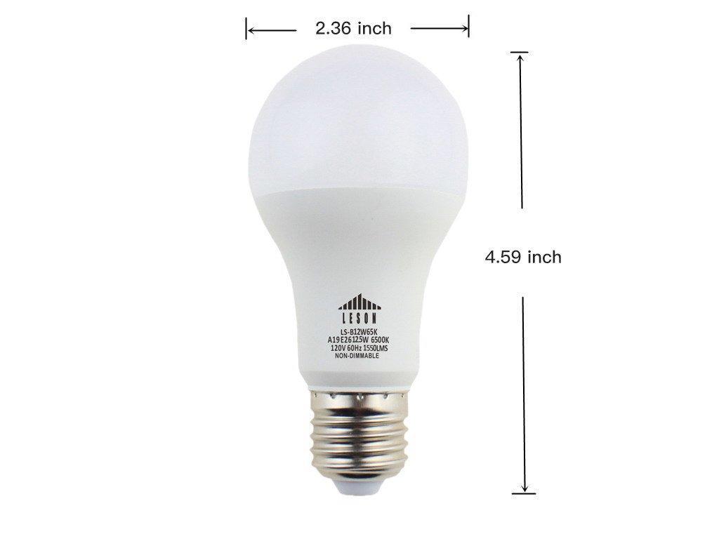 Leson 100 Watt Equivalent A19 LED Light Bulb Standard E26 ...