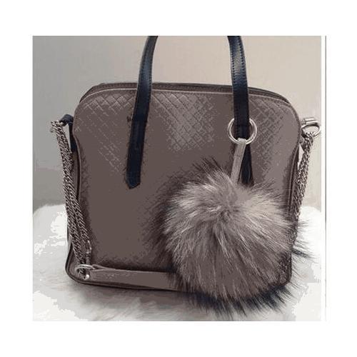 6-034-Large-Genuine-Fur-Pom-Pom-Puff-Ball-Car-Keyring-Bag-Purse-Charm-Natural thumbnail 5