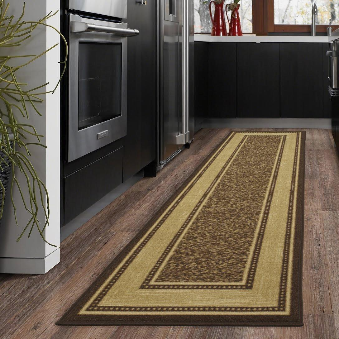 Details About 20 X 59 Modern Hall Runner Long Rug Rugs Hallway Area Carpet Non Slip Mat Brown