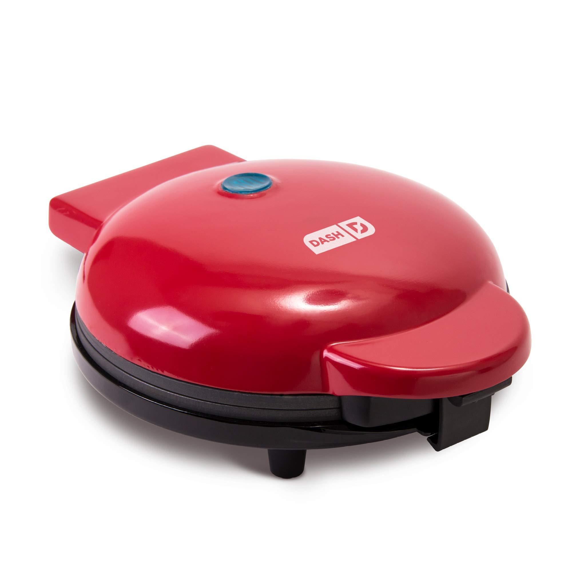 "Dash DEWM8100RD Express 8"" Waffle Maker Machine for Indivi"