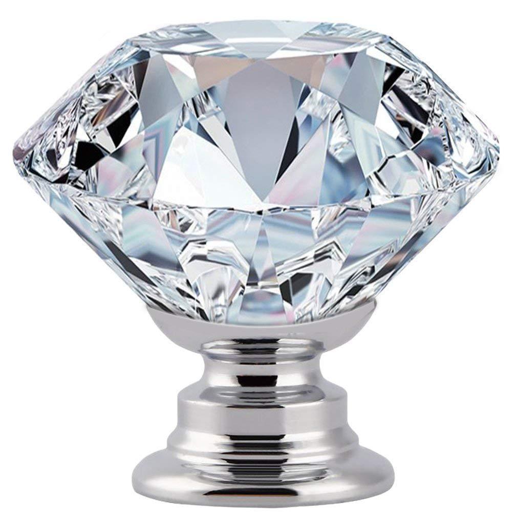 12 Vintage Crystal Clear Glass Dresser Door Knobs Cabinet ...
