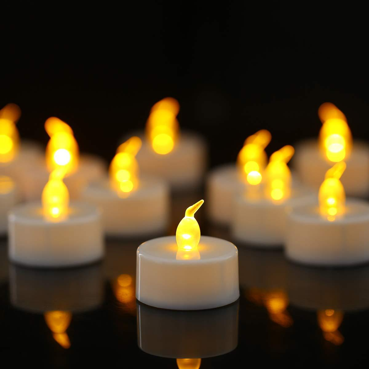 Tea Lights, Flameless LED Tea Lights Candles, Battery Powere