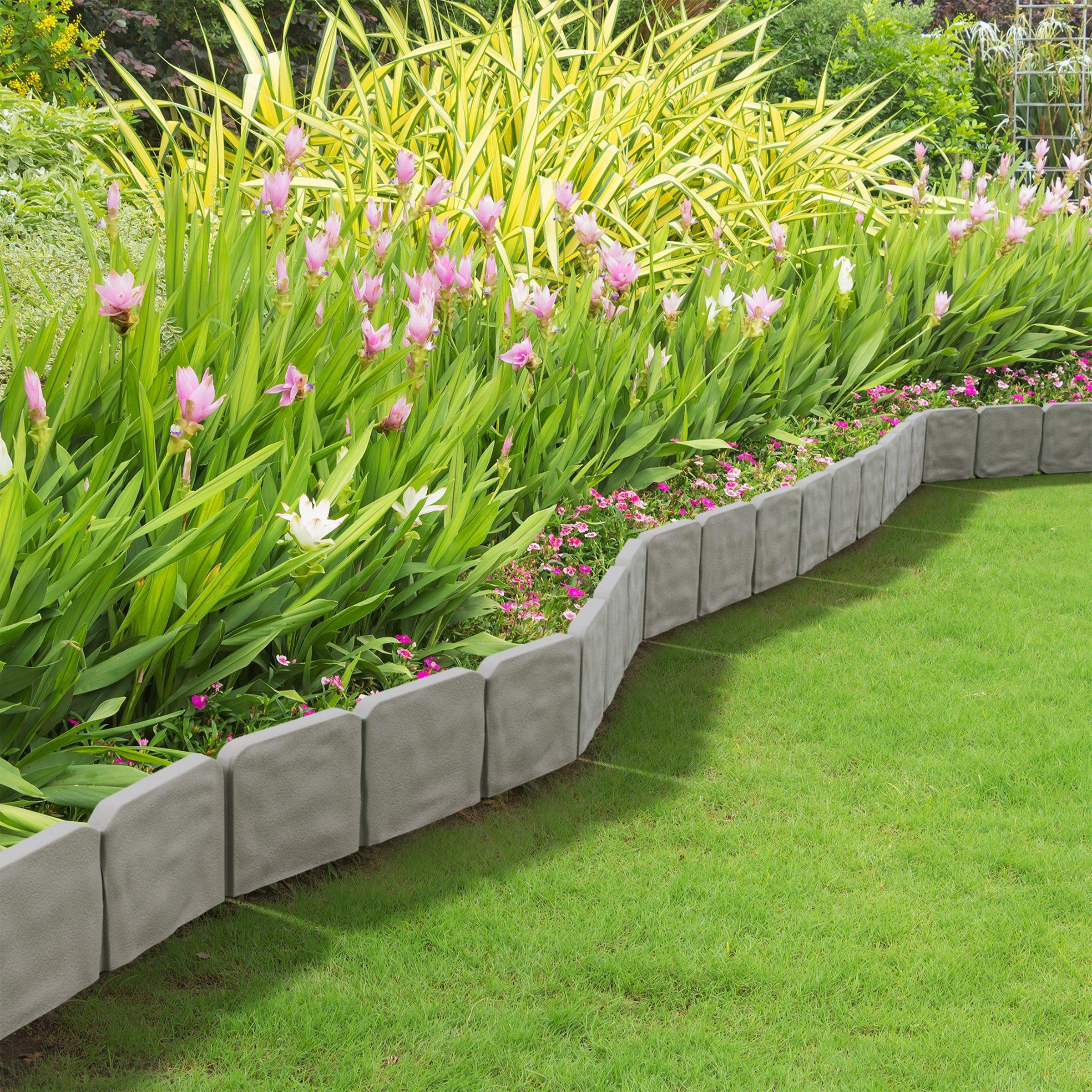 Garden Edging Border- Decorative Flower Bed Edging for ...