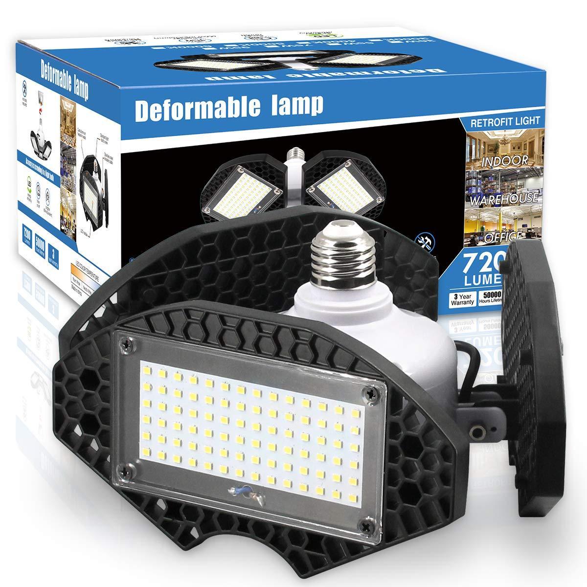 LED Garage Lights, Deformable LED Garage Ceiling Lights
