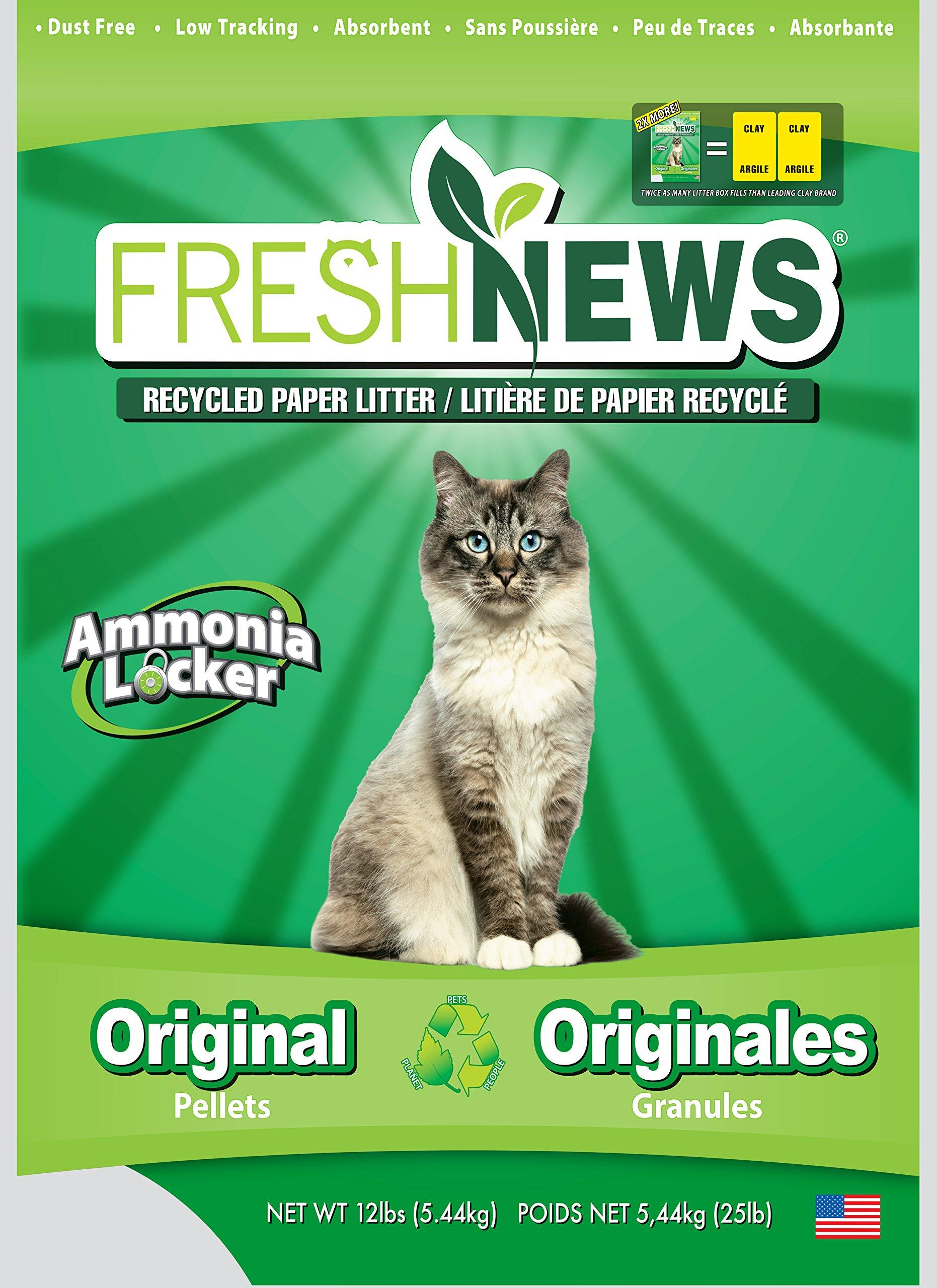 Fresh News Post Consumer Paper Pellet Cat Litter 12 25