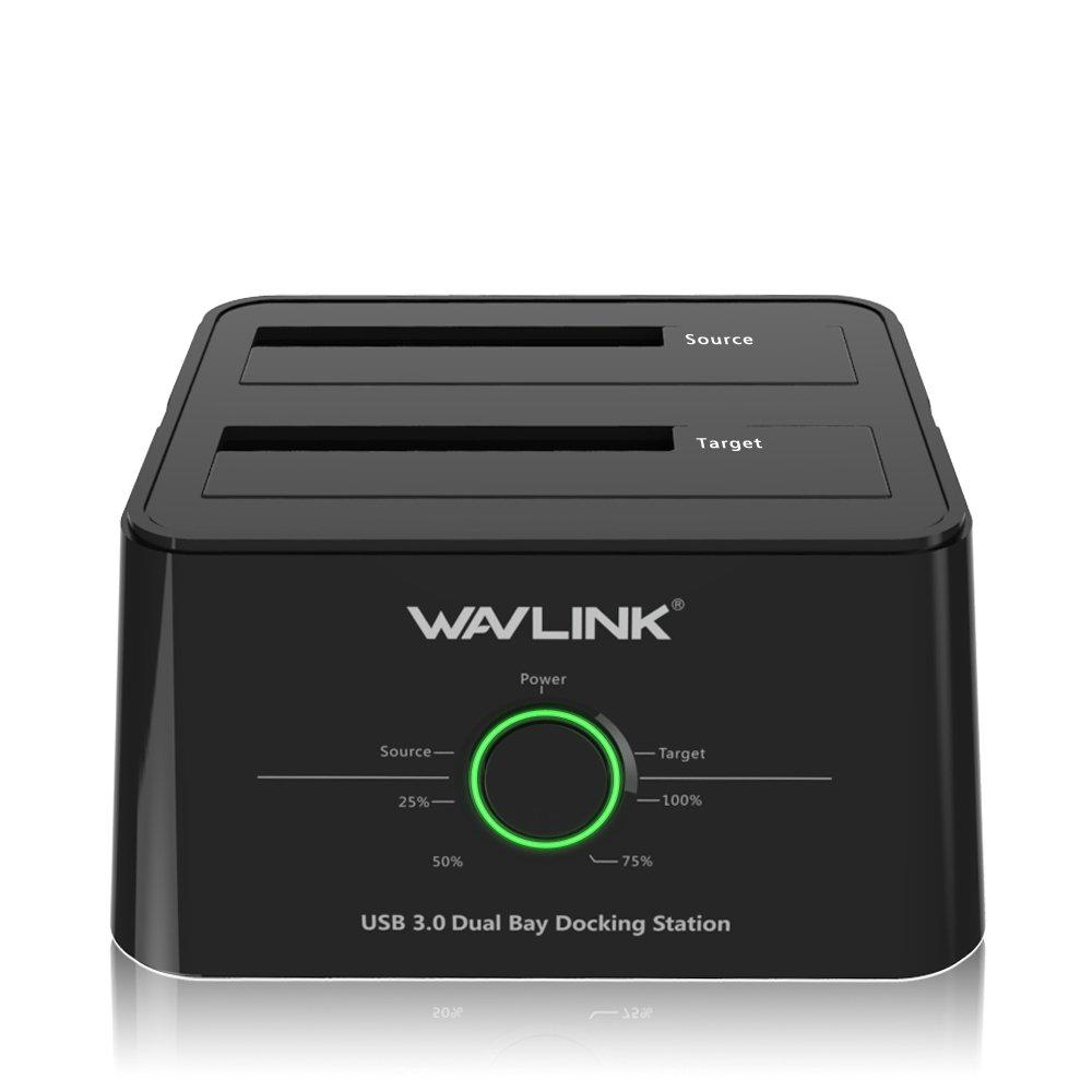 WAVLINK USB 3.0 to SATA  Dual-Bay Hard Drive Docking Station