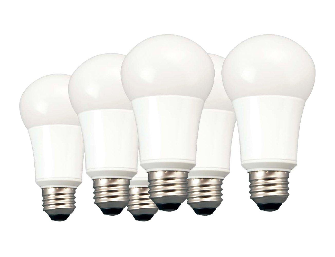 TCP 40 Watt LED A19, 6 Pack, Soft White, Non-Dimmable Light